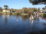 Model Boat Sailing - Consols Pond - March 2016