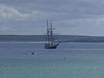 Harbour Beach - St Ives - Tall Ship In The Bay