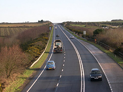 Approach to St Ives on the A30 Hayle